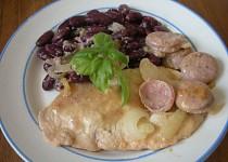 Kuřecí maso s fazolemi