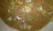 Nivovo-chlebová polévka s houbama