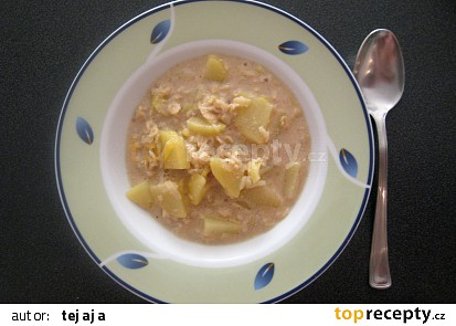 Pórková polévka s vločkama