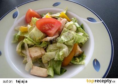 Salát s kozím sýrem