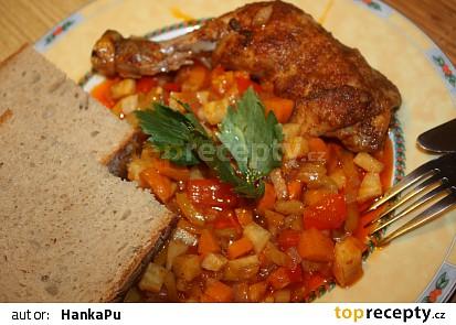 Kuřecí perkelt se zeleninou