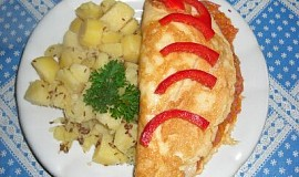 Omeleta s cuketovou náplní