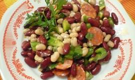 Pestrý fazolový salát