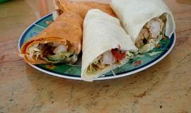 Placky plněné kuřecím masem (domácí tortilla)