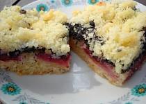 Rychlý švestkový koláč s mákem
