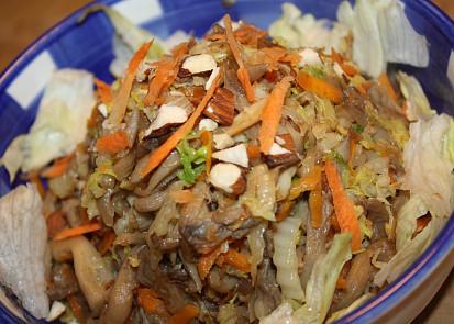 Salát z hlívy ůstřičné s čínským zelím