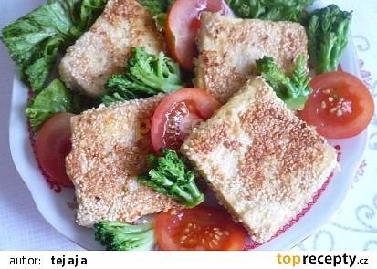Smažené tofu v sezamu