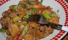 Vepřové s rýží a zeleninou