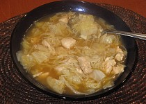 Čínská polévka se zelím