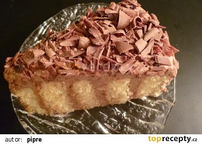 Čokoládovo - šlehačkový dortík