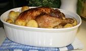 Kuřátko s nádivkou z bílé klobásy