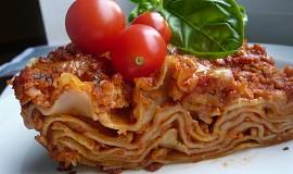 Lasagne se sójovým masem