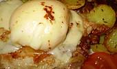 Naložené broskvové kuře