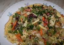 Omeleta obložená zeleninkou