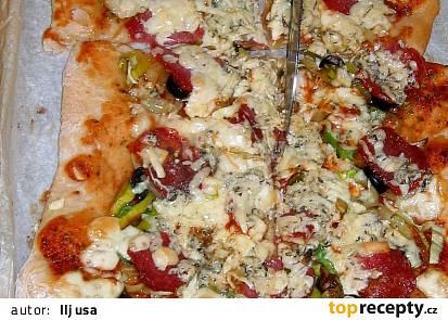 Pizza z domácí pekárny