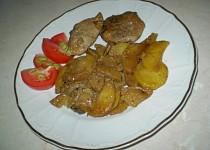 Smetanové maso s houbami