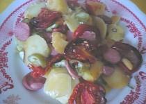 Zelenina zapečená s párkem