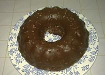 Bábovka z pudinku s čokoládovou polevou