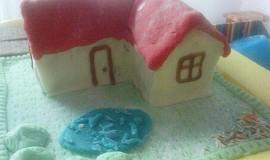 Bebe s marcipánem - dort domeček