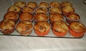 Čokoládovo-banánové muffiny