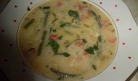 Fazolková polévka s koprem a hlívou ústřičnou
