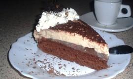 Jahodový dort s cappuccinem