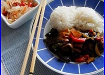 Kachní srdce se zeleninovou směsí s nádechem Asie