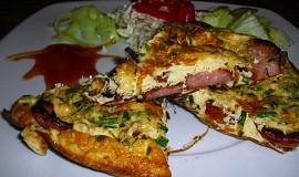Klobásovo-šunková omeleta