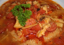 Netradiční dršťková polévka