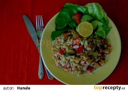 Paella z krabích tyčinek
