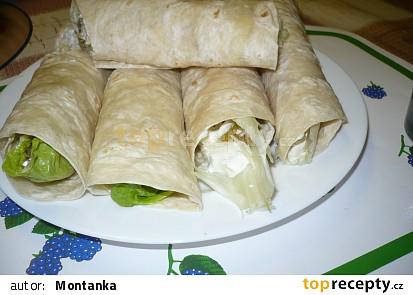 Plněné tortily s kuřecím masem