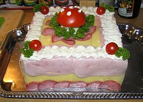 Slaný dort s muchomůrkou