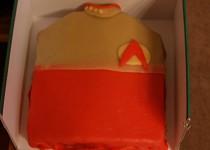 Star Trek torta (uniforma)