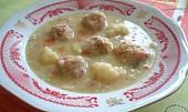 Hrachová polévka se škvarkovými knedlíčky