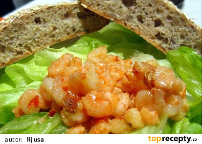 Krevety na česneku a másle