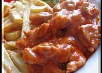 Kuřecí čína s nivou a kečupem