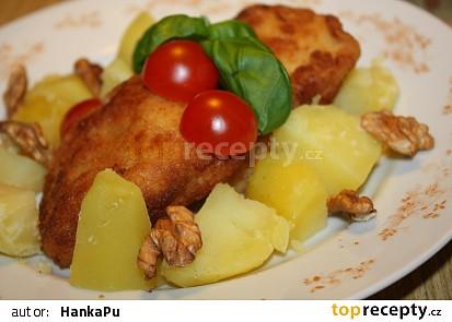 Pangas v ořechovo-česnekovém kabátku