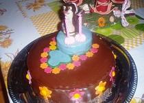 Potahovaný dort krteček