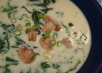 Špenátová polévka se žampiony II.