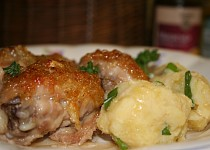 Kuře s česnekem a džemem