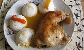 Kuřecí stehna pečená se zeleninou
