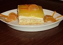 Piškotová buchta s tvarohem a pomerančovým želé