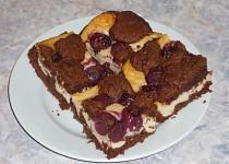 Tvarohový koláč s třešňovými hnízdy