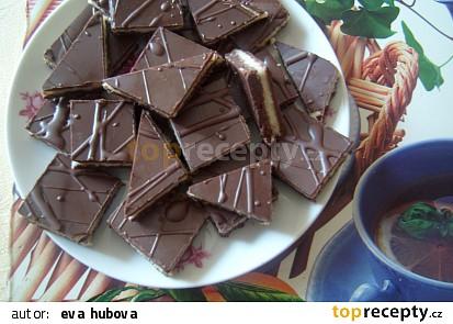 Kostky z koka sušenek