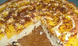 Broskvová bublanina v dortové formě