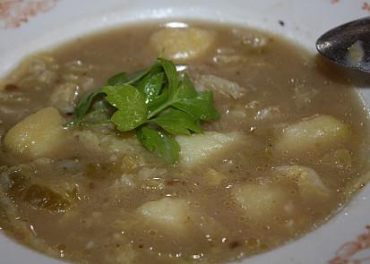 Kapustová polévka dobrá