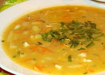 Povelikonoční polévka z vařených vajec