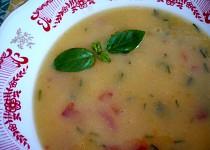 Bramborová polévka s rajčaty