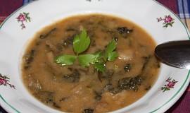 Kapustová polévka s hlívou