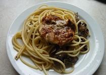 Kuře na špagetách